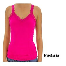 3 PACK -Hot This Summer Basic flower Lace Top  CAMI TANK  Plain Cami (S M L)