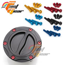 Billet Gas Petrol Fuel Cap + CNC Bolts for Triumph Speed Triple 955i All Years