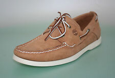 MENS TIMBERLAND 6307 MOCCASINS BOAT SHOES TAN BROWN SALE SIZE 8 9 NEW FS616A