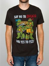 JUNK FOOD TMNT SAY NO TO DRUGS SAY YES TO PIZZA NINJA TURTLES T TEE SHIRT S-3XL