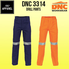 Cotton Drill Pants With 3M R/Tape Brand New Clothes Work Wear 3314 dnc