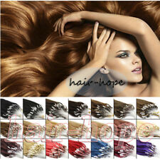 "16""-26"" Micro Loop Ring Beads Tipped Brazilian Remy Human Hair Extensions 100S"