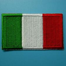 1 Italy Flag Italian Iron on Sew Patch Applique Badge Embroidered Biker Applique
