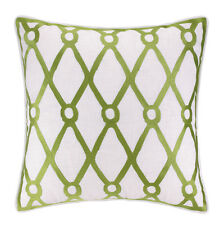 Kate Nelligan Fish Net Embroidered Linen Pillow