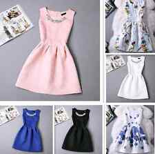 New Design Summer Womens TuTu Dress Vintage Digital Evening Party Print Dresses