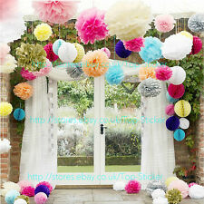 30 Wedding Party Hanging Tissue Paper Pom Pom Lantern Decoration Balls 3 Sizes