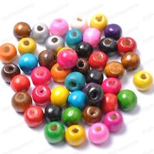 FREE SHIP 100pcs Wood Round Spacer Charms Beads 10Colors U PICK 6/8/10/12/14MM