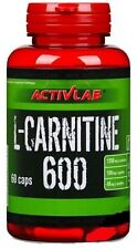 Activlab Nutrition L-carnitine 600mg Capsules Weight Loss Slimming Support Pills