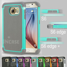 Black Rugged Rubber Matte Hard Shell Case Cover For Samsung Galaxy S6 & S6 edge