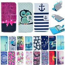 Fashion Vintage New Card Holder Wallet Flip Leather Case Cover Stand for Apple