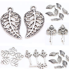 New 25/50Pcs Tibet Silver Metal Loose Spacer Pendants Charms Findings 6Styles