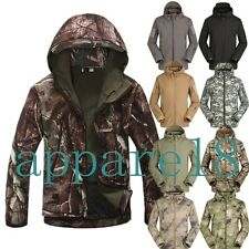 New Style Men's Soft Shell Outdoor Waterproof  Hooded Jacket Coat Windbreaker