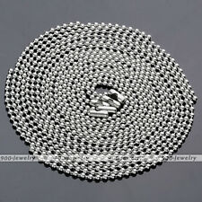 10x Stainless Steel Bead Ball Silver Chain Necklace Solid 2mm Mens Matching Link