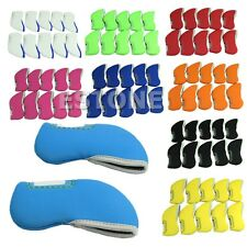 10pcs Neoprene iron golf club head covers headcovers Set New