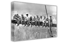 FAMOUS PICTURES LUNCH ATOP A SKYSCRAPER CANVAS PRINTS WALL ART HOME DECORATION