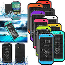 Premium Dot View Case Waterproof Shockproof Bracket Stand Cover For HTC One M8