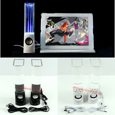 USB LED Dancing Water Show Music Fountain Light Computer Speakers For Laptop PC