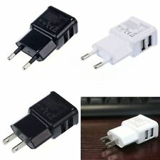 US/EU Plug Dual 2-Port USB Wall Adapter Charger For iPhone Samsung HTC MP3
