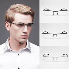 Pure Titanium Spectacles Men Half Rimless Optical Glasses Eyeglass Frame Eyewear