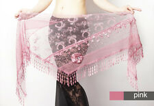 NEW triangle Belly Dance dancing hip scarf belt wrap costume dancewear 6colors