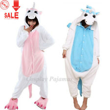 New Animal Onesie Adult Unisex Kigurumi Cosplay Costume Pink Unicorn Pyjamas