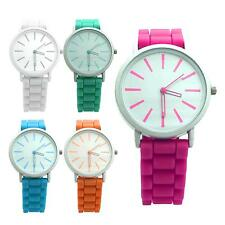 Charming Jelly Silicone Band Watch Quartz Time Pointer Battery Wristwatch Gift