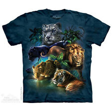 THE MOUNTAIN BIG JUNGLE CATS COLLAGE ANIMALS NATURE MAJESTIC TEE SHIRT S-5XL