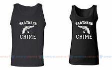Partners in Crime - Couple Matching Tank Tops - For His and Her Love Tank Tops