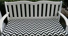 Black Chevron Zig Zag Cushion for Bench Swing Glider~ Indoor Outdoor~Choose Size