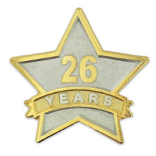 PinMart's 26 Year Service Award Star Corporate Recognition Dual Plated Lapel Pin