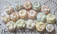"10-1 1/2"" Sugar Royal Icing Edible Rose Flower Cake Cupcake Wedding - U Choose"