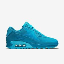 New Nike Women's Air Max 90 Premium (443817-401)  Light Blue Lacquer/Clearwater