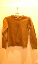 Crewcuts Sweater Pullover Boys or Girls Size 8, 10 Brown Gold 100% Lambwool