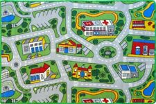 CITY ROADS Kids Rug 5 SIZES  Childrens Car Play Mat Tracks FREE DELIVERY*