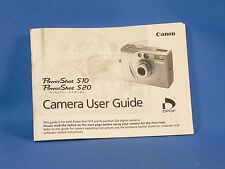 Owners manual for a CANON, PowerShot, S10 or S20, P&S Digital Camera.
