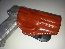 LEATHER PADDLE HOLSTER (OWB) FOR FNH 5-7 FNH&FNS 9/40 FNX 45 FN P9 RIGHT