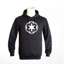 Classic Star Wars Dark Grey Hoodie Troopers Galactic Empire sweatshirt  Pullover