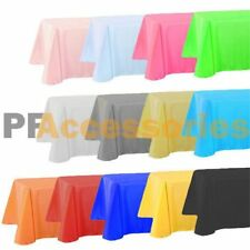 "54"" x 108"" Tablecloth Rectangle Plastic Banquet Party Table Cover Vinyl Color"