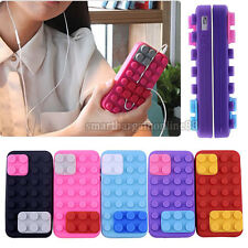 Funny Lego Brick Block Flexible Silicone Soft Back Case Cover For iPhone 4 4G 4S