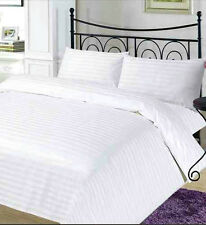 Hotel Style 100% Egyptian Cotton 400 Thread Count Satin Stripe Duvet Cover Sets