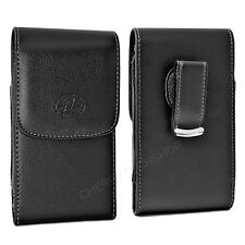 Leather Vertical Case Pouch w/ Swivel Belt Clip for Verizon Wireless Cell Phones
