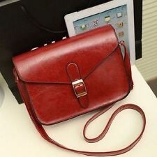 Fashion Women Messenger Bag PU Leather Crossbody Satchel Shoulder Handbag