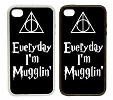 Everyday I'm Mugglin' - Rubber and Plastic Phone Cover Case Harry Style Snitch