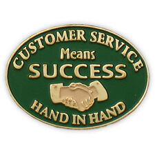 Customer Service Means Success Lapel Pin