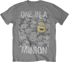 Despicable Me 2 One In A Minion Men's Lightweight T-Shirt - Grey