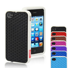 For IPhone4 4S Waffle-Case Sole Protect Case Soft Silicone Personalize Cover