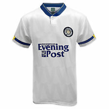 Leeds United AFC Official Football Gift Mens 1992 Retro Home Kit Shirt White