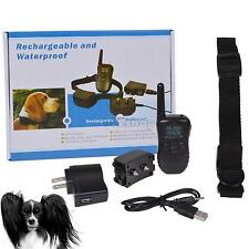 Rechargeable Waterproof LCD 100LV Level Shock Vibra Remote Dog Training Collar T