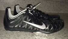 NIKE Zoom Maxcat 4 Sprint Black Silver Track Running Spike Shoes NEW Mens 12.5