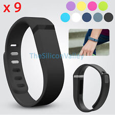 9 Pcs LARGE L Size Replacement Wrist Band w/ Clasp For Fitbit Flex Bracelet